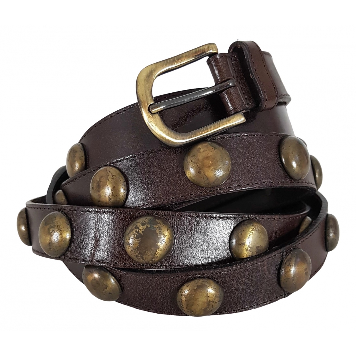 Closed \N Brown Leather belt for Women 90 cm