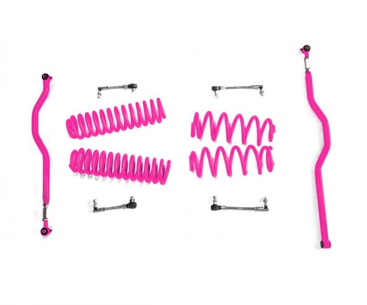 Steinjager J0046708 Lift Kit Wrangler JK 2007-2018 2.5 Inch Hot Pink