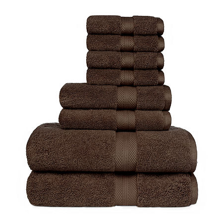 American Dawn Sarajane 8-pc. Bath Towel Set, One Size , Brown