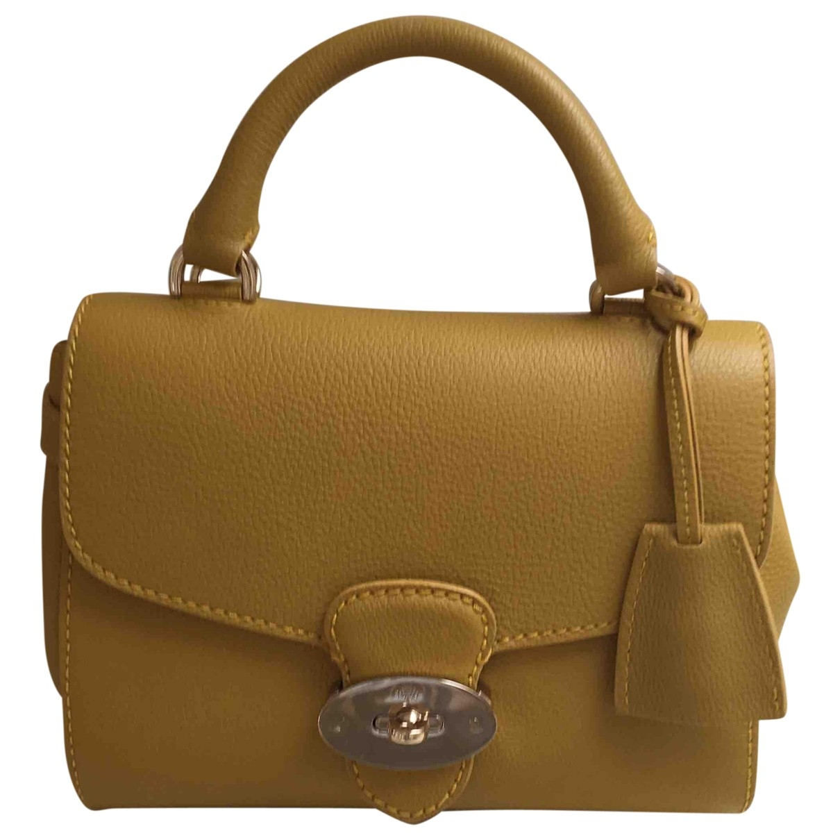Mulberry \N Yellow Leather handbag for Women \N