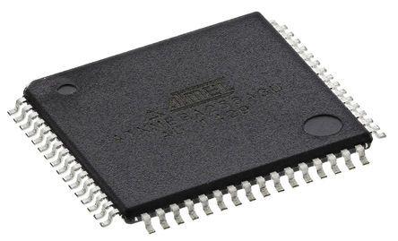 Microchip ATXMEGA256A3U-AU, 8/16bit AVR Microcontroller, AVR XMEGA, 32MHz, 256 + 8 kB Flash, 64-Pin TQFP