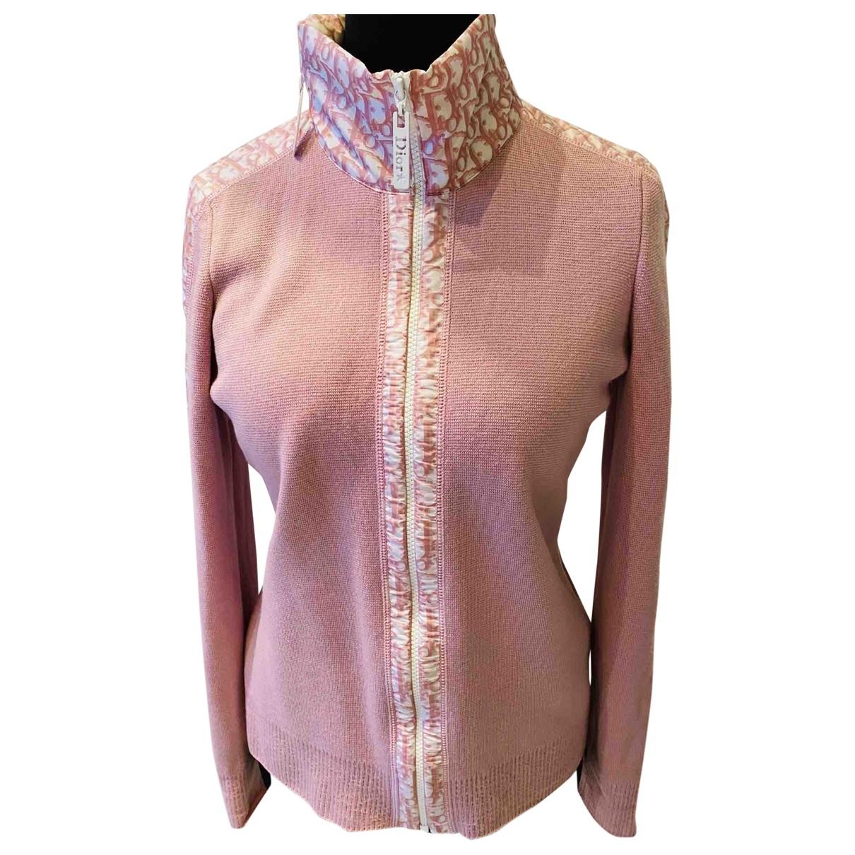 Dior \N Pink Wool Knitwear for Women 44 FR