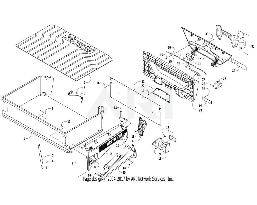 Arctic Cat OEM 3307-744 Panel Fender Assembly Rear Right Green | (Inc. 9 10)
