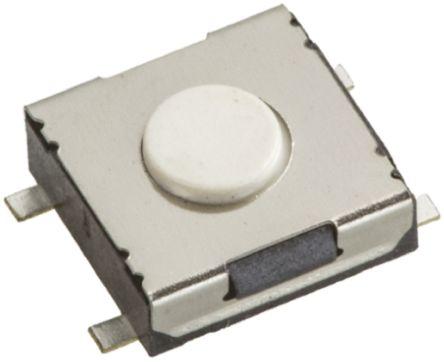 Wurth Elektronik White Tactile Switch, Single Pole Single Throw (SPST) 50 mA @ 12 V dc 1.1mm Surface Mount