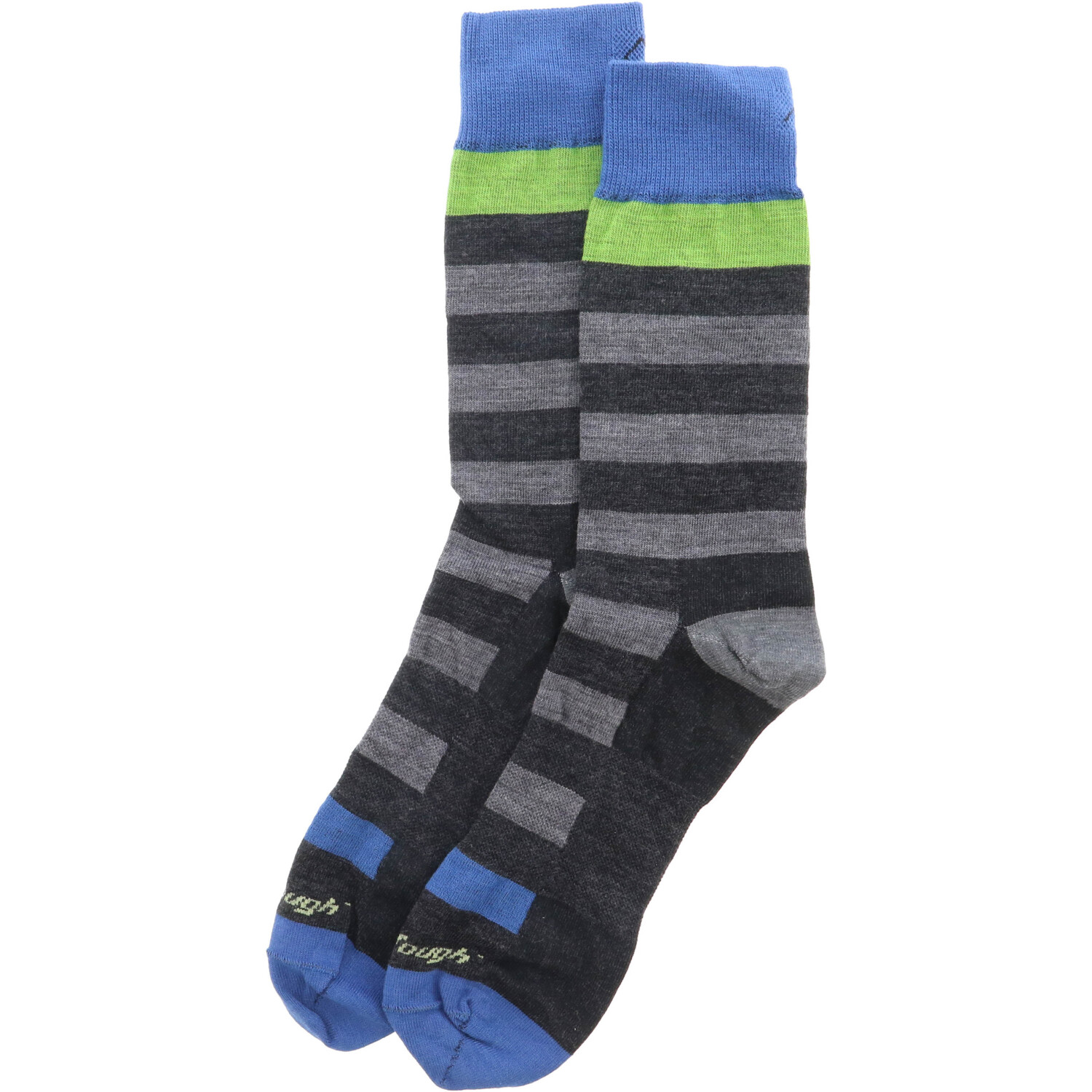 Darn Tough Charcoal / Grey Warlock Crew Light Casual & Dress Sock - L