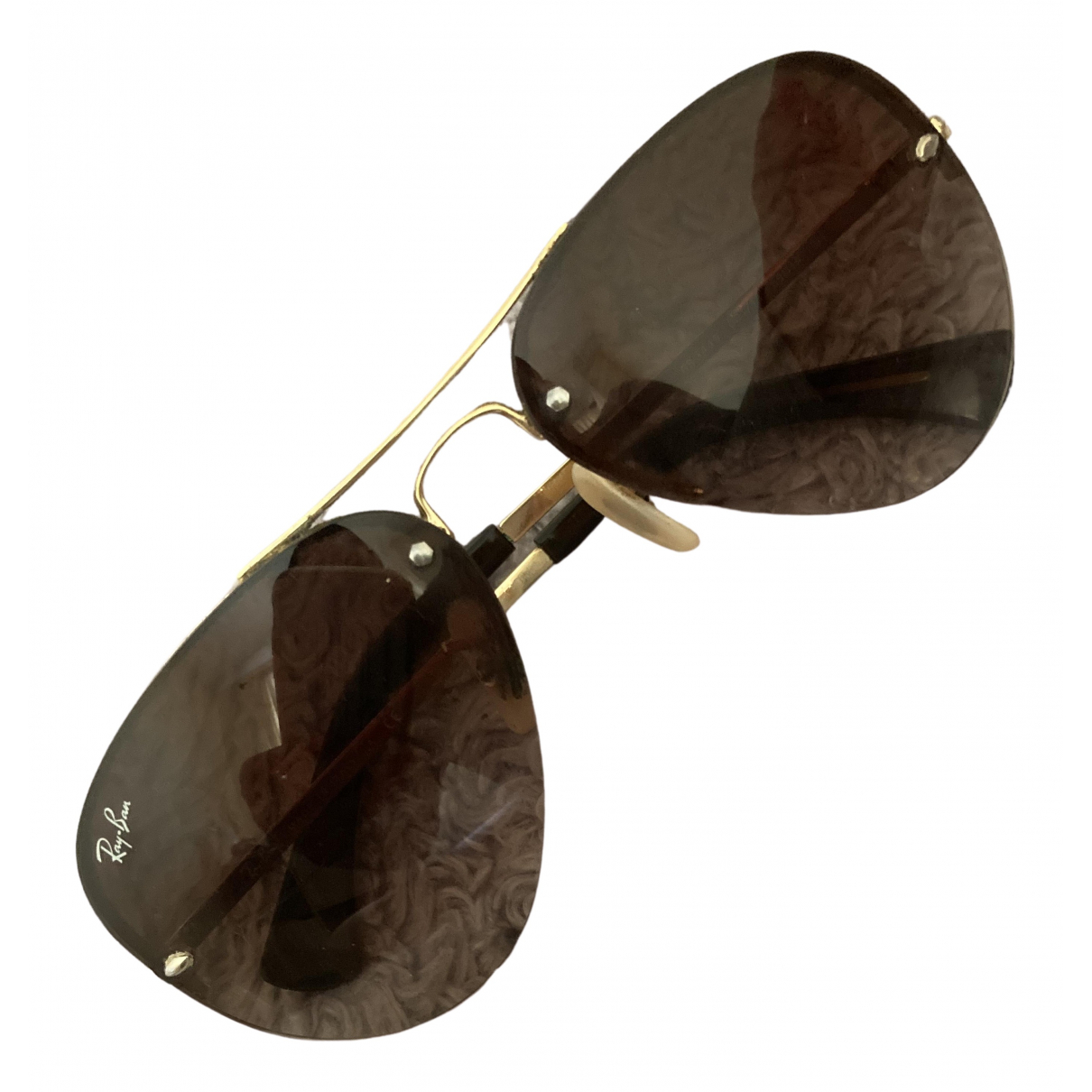 Ray-ban Aviator Brown Metal Sunglasses for Women \N