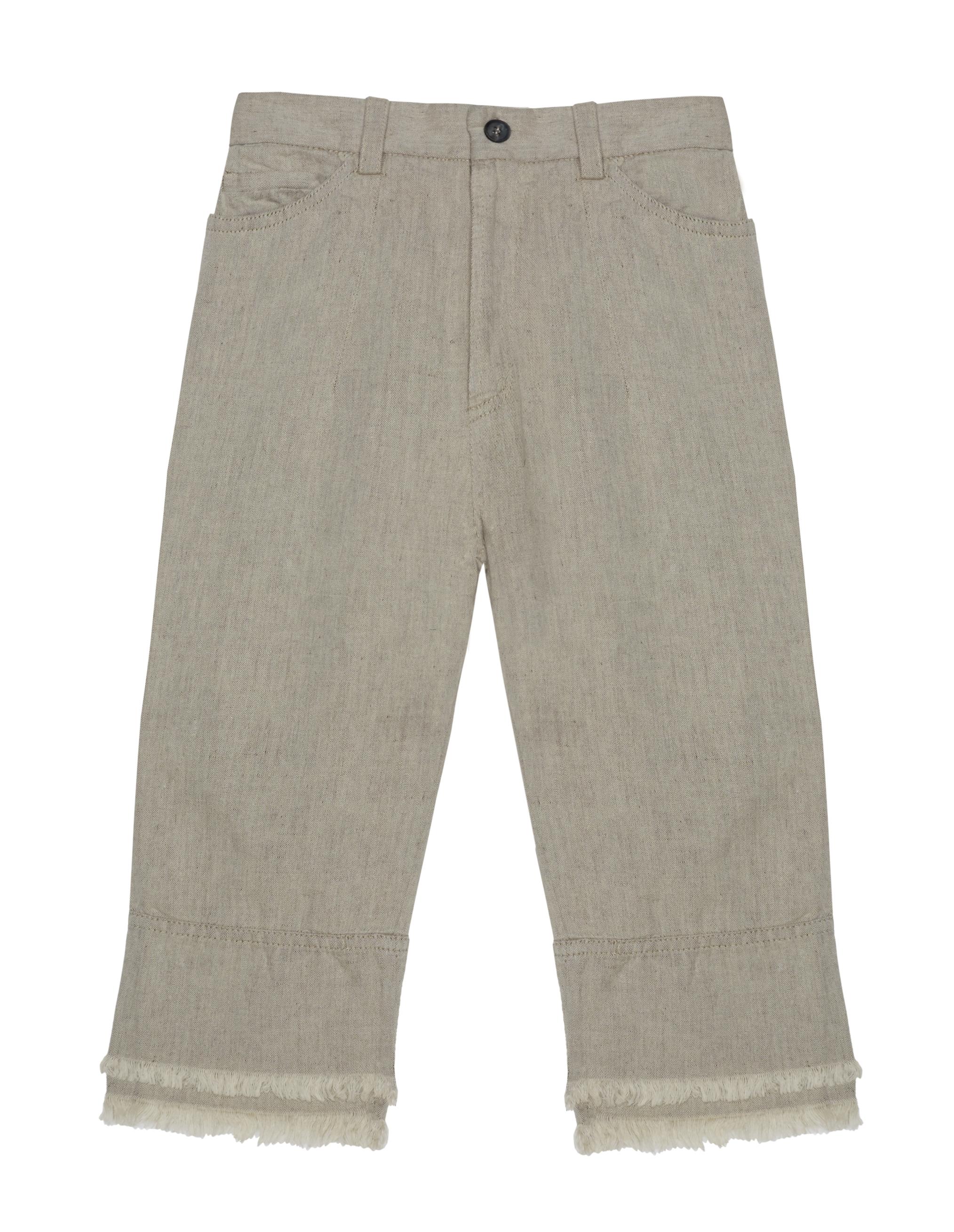Lost&Found kids Beige Cotton & Linen Jeans
