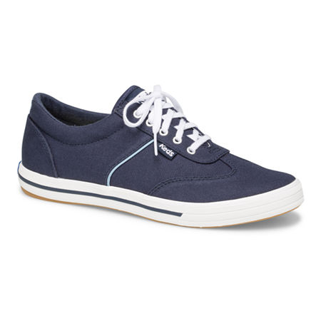Keds Womens Courty Core Lace-Up Sneakers, 11 Medium, Blue