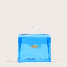 Clear Flap Chain Crossbody Bag