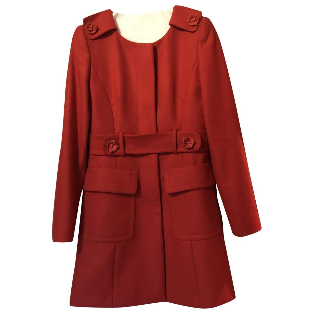 Red Valentino Garavani \N Red Wool coat for Women 40 IT