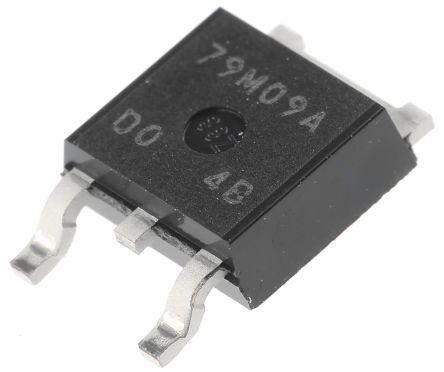 New Japan Radio , -9 V Linear Voltage Regulator, 500mA, 1-Channel Negative 3-Pin, DPAK NJM79M09DL1A-TE1 (5)