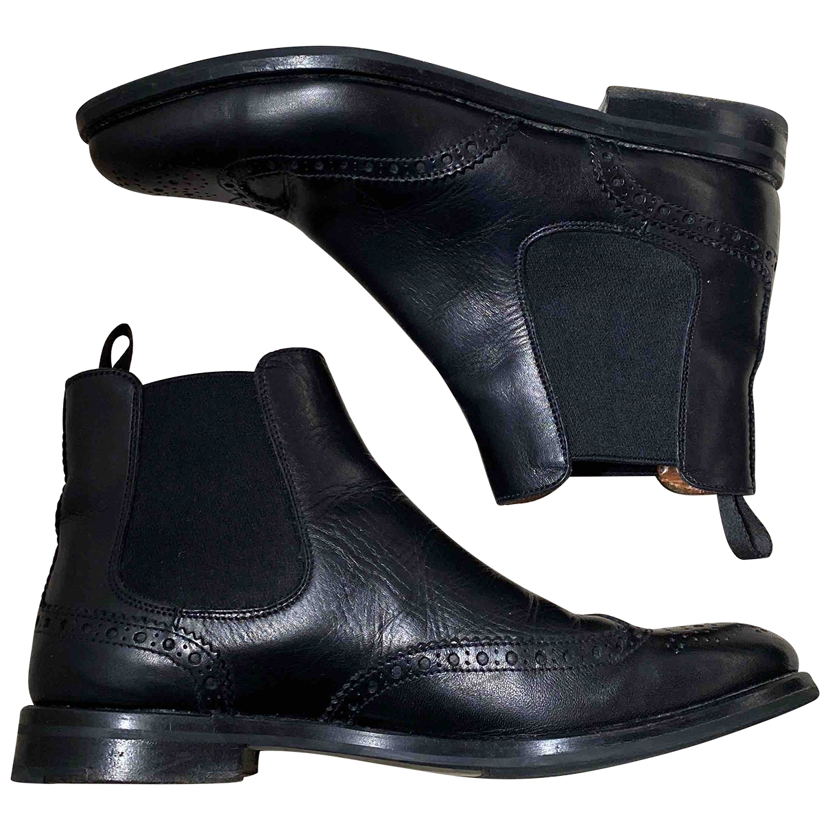 Church's \N Black Leather Ankle boots for Women 38 EU