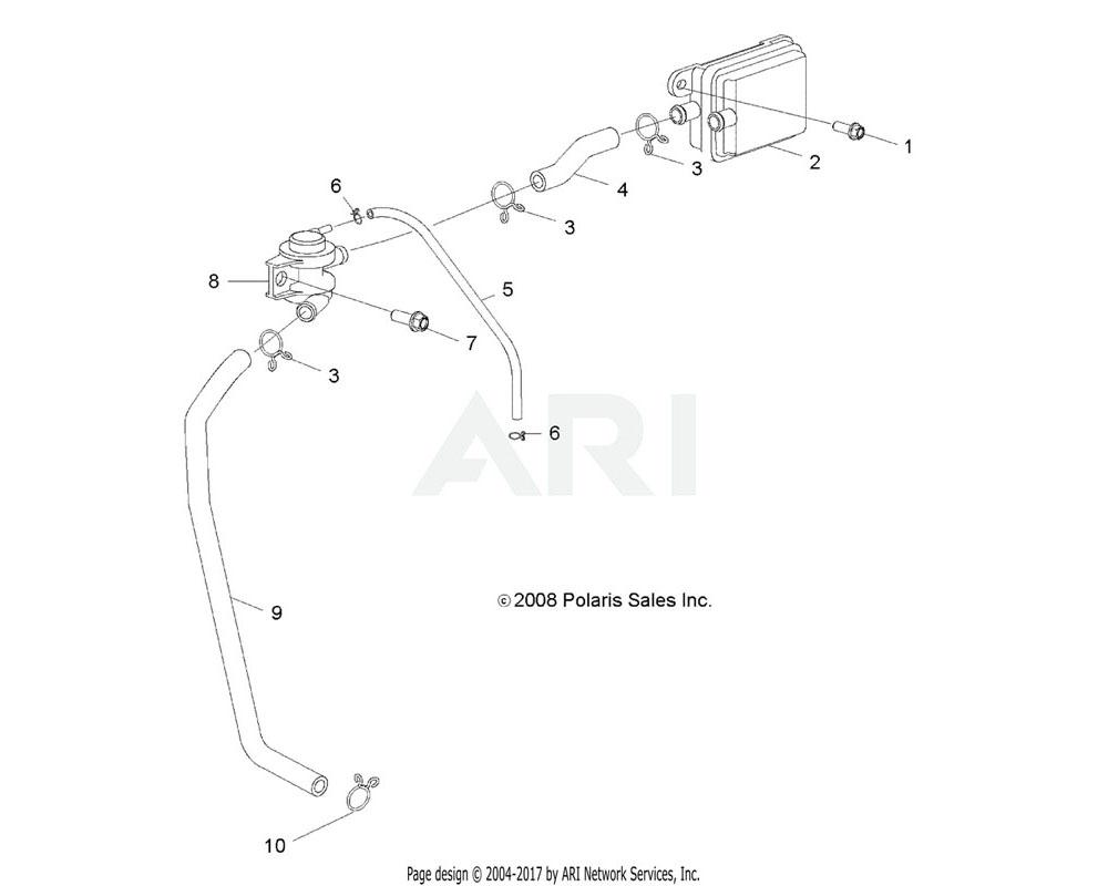 Polaris OEM 0454543 HOSE, FUEL, FORMED
