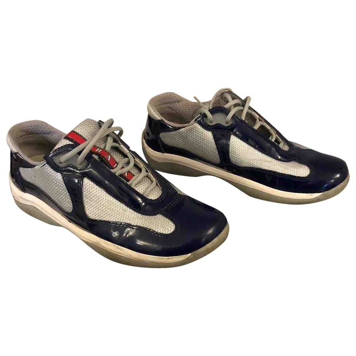 Prada \N Blue Patent leather Trainers for Women 37.5 EU
