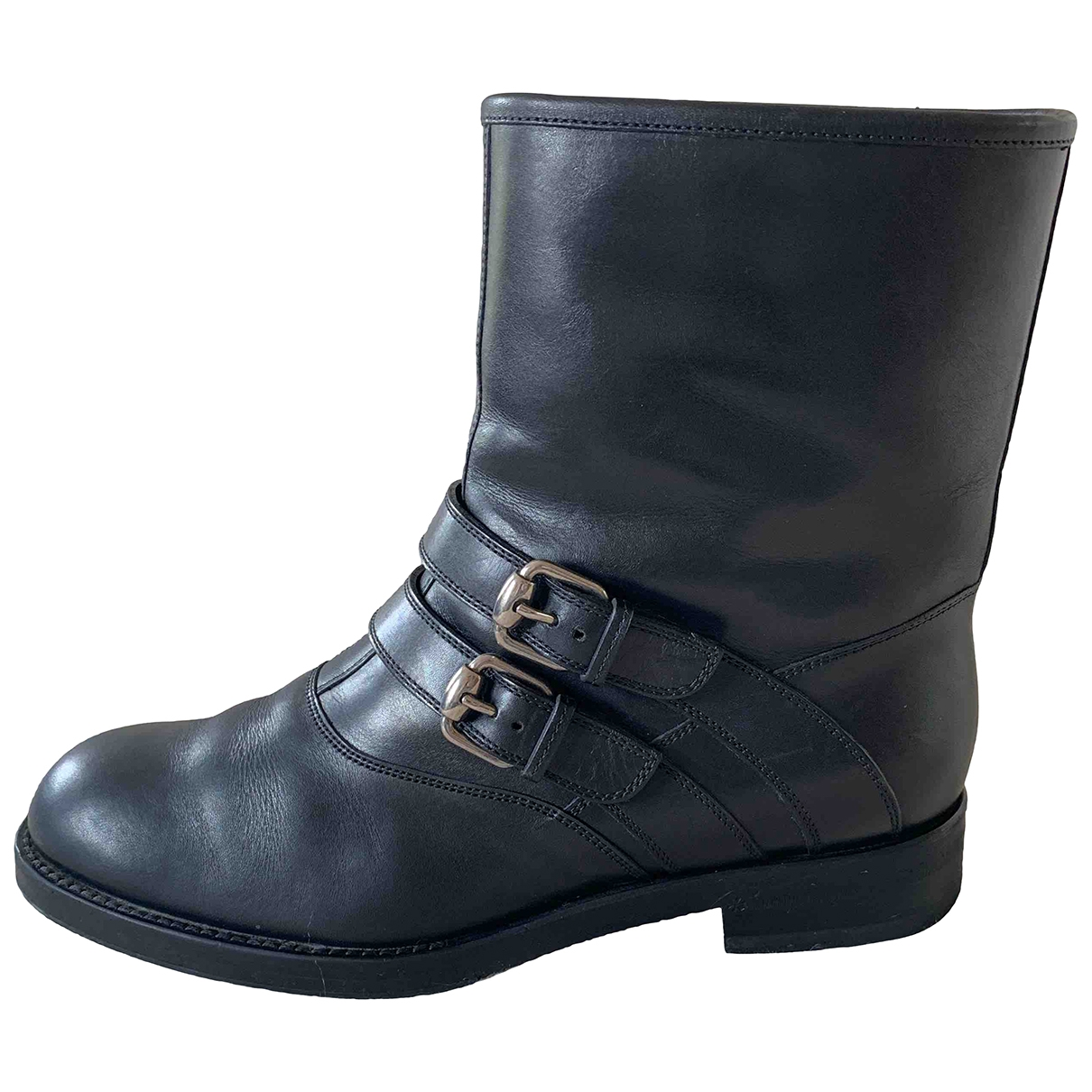 Gucci \N Black Leather Ankle boots for Women 38 IT