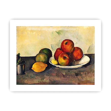 Brushstone Still Life with Apples Canvas Wall Art, One Size , Red