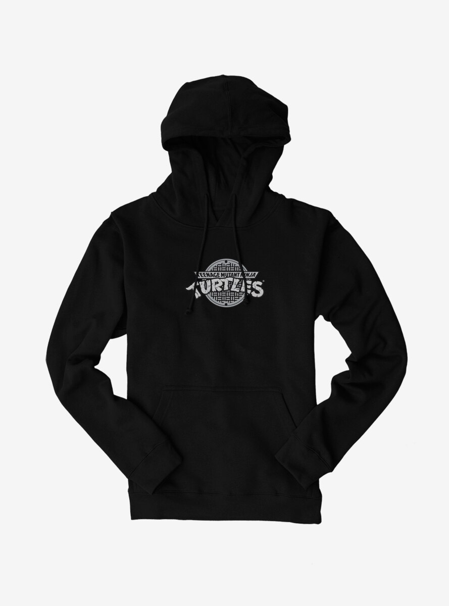 Teenage Mutant Ninja Turtles Classic Grayscale Logo Hoodie