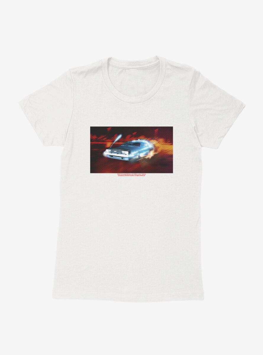 Back To The Future DeLorean Time Machine Womens T-Shirt
