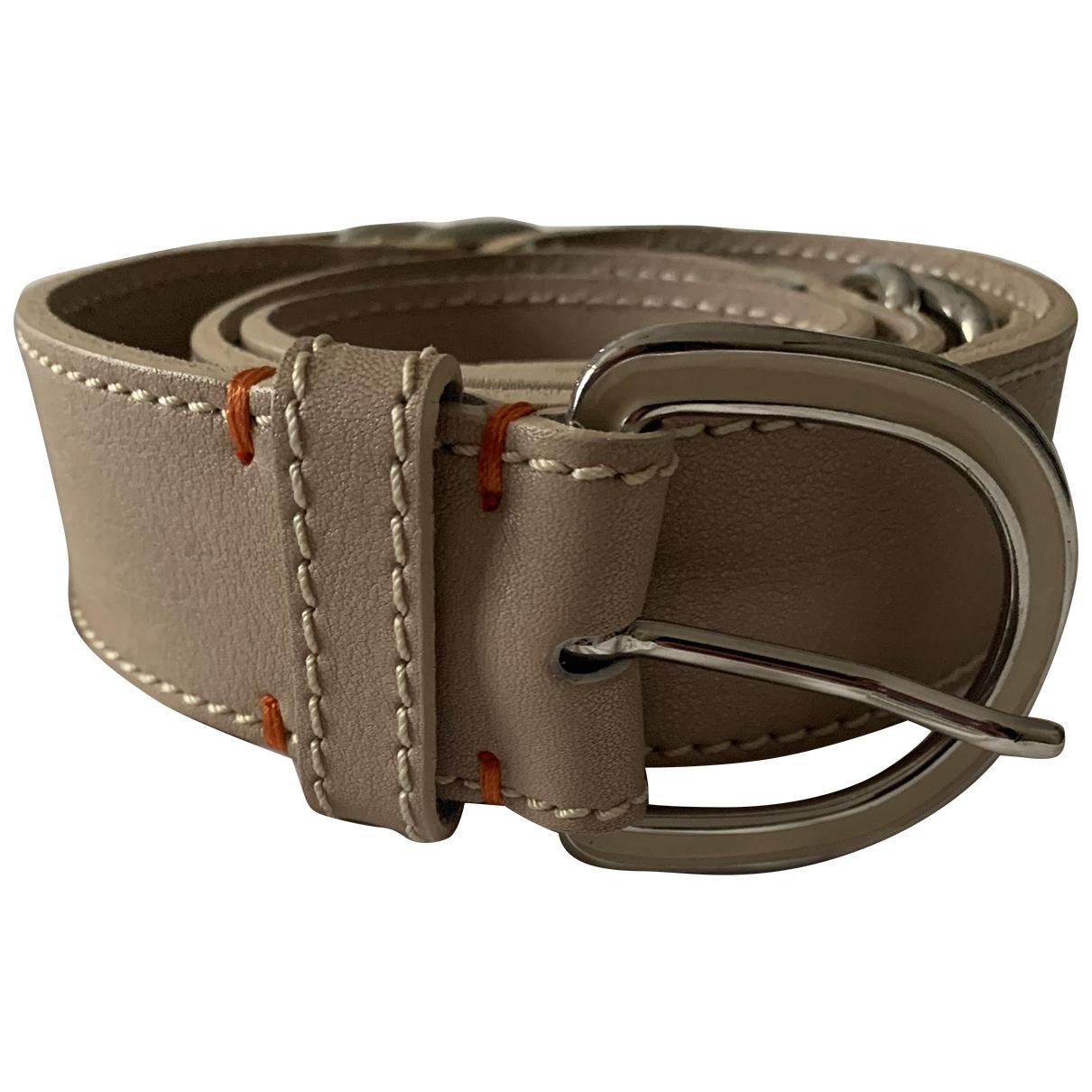 Boss \N Beige Leather belt for Women XS International