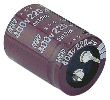 Nippon Chemi-Con 390μF Electrolytic Capacitor 450V dc, Through Hole - EKMQ451VSN391MA40S