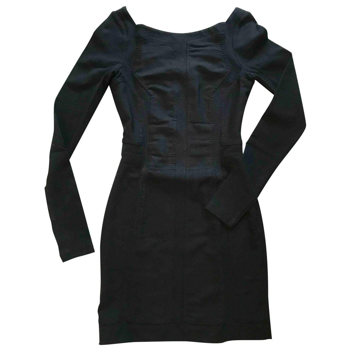 Diane Von Furstenberg \N Black Cotton dress for Women 36 FR