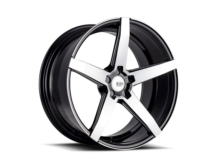 Savini BM11-19085530M4571 di Forza Machined Black with Black Lip BM11 Wheel 19x8.5 5x130 45mm