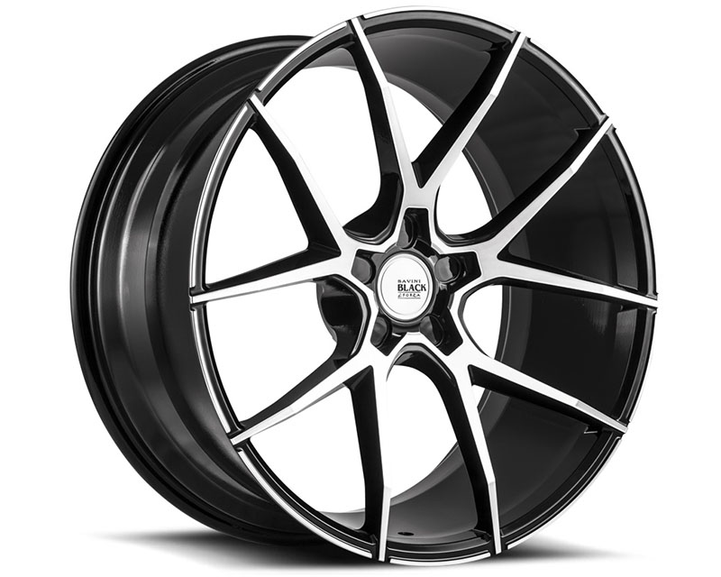 Savini BM14-22090530M1579 di Forza Machined Black with Black Lip BM14 Wheel 22x9.0 5x130 15mm