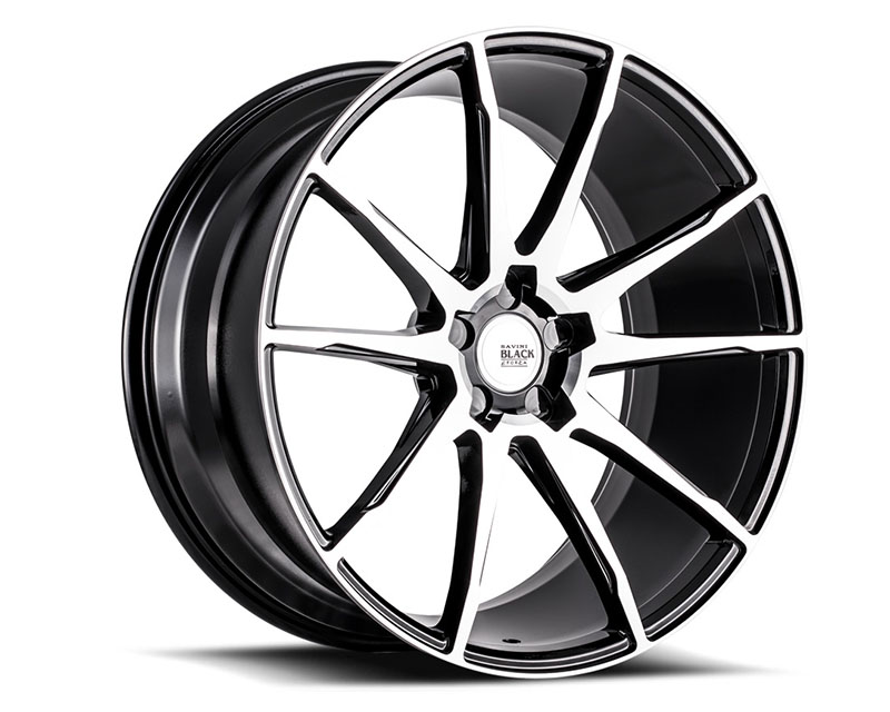 Savini BM12-20100545M3579 di Forza Machined Black with Black Lip BM12 Wheel 20x10.0 5x114.3 35mm