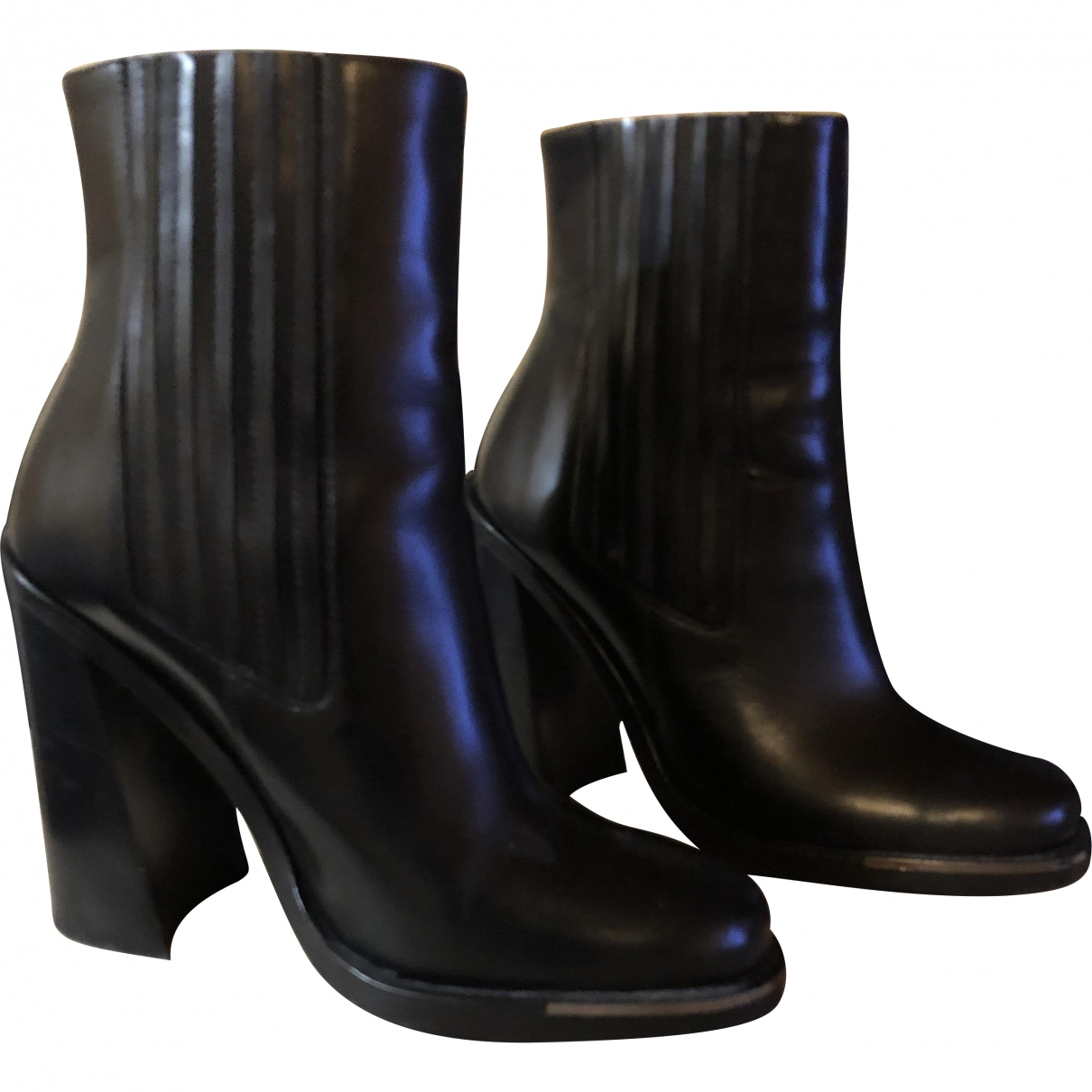 Versace \N Black Leather Ankle boots for Women 37 EU