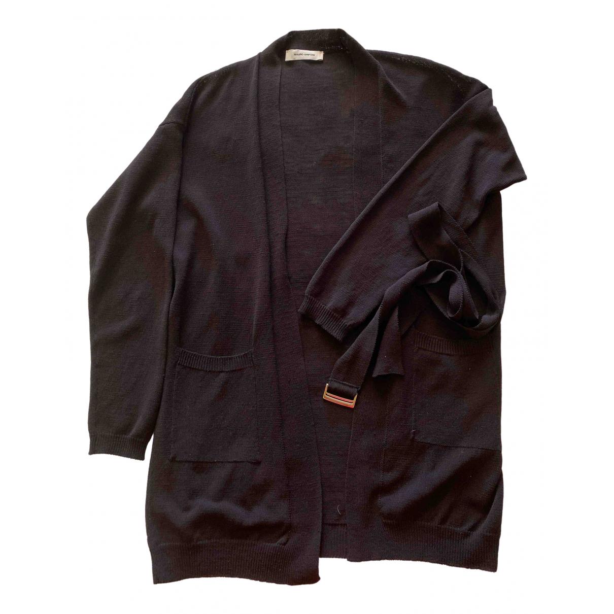 Mauro Grifoni \N Black Linen Knitwear for Women 40 IT