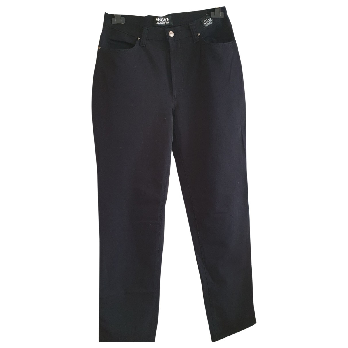 Versace Jeans \N Black Trousers for Women 44 FR