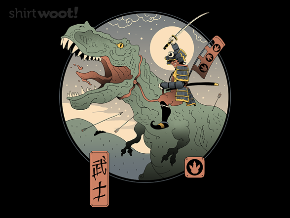 Jurassic Samurai T Shirt