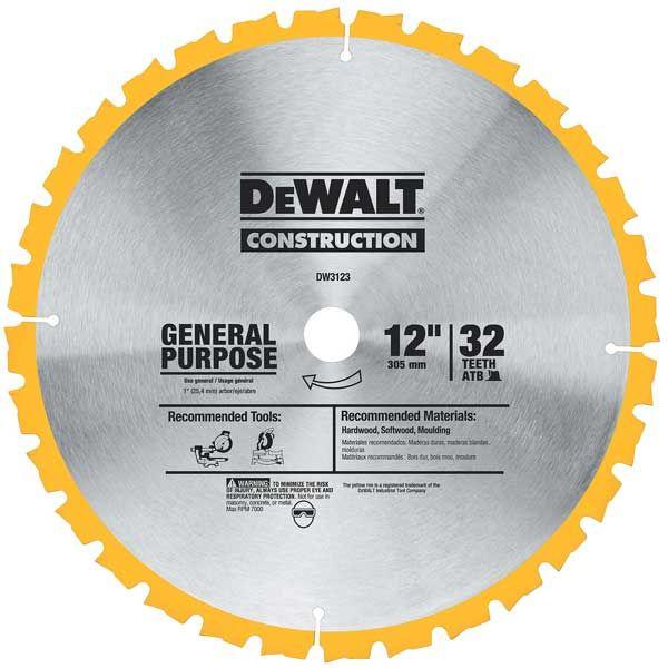 DW3123 Circular Saw Blade 12