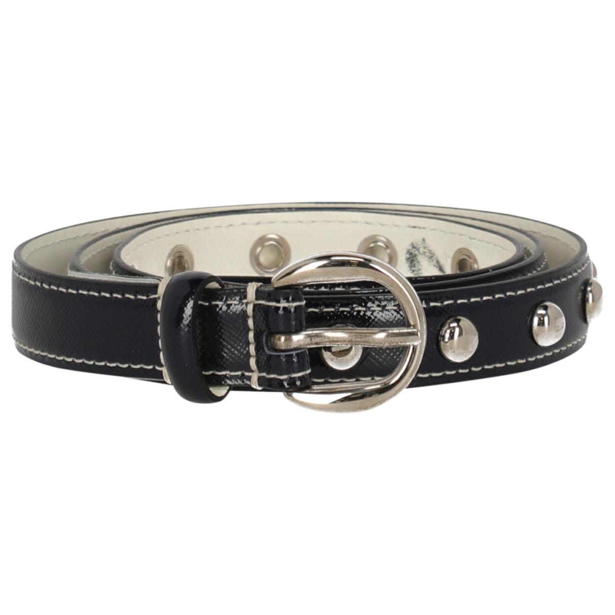 D&g \N Blue Leather belt for Women 85 cm