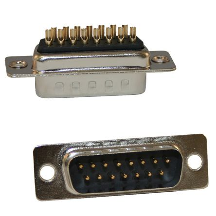 Norcomp , 171 Panel Mount, 9 Pin D-sub Connector, Vertical Plug (5)