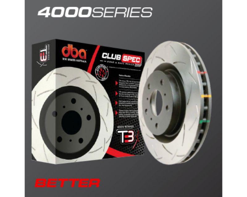 DBA Rear Clubspec Road & Race Brake Rotor 4000 T3 Slot Nissan Non-Turbo 300ZX 89-96   Turbo 90-96