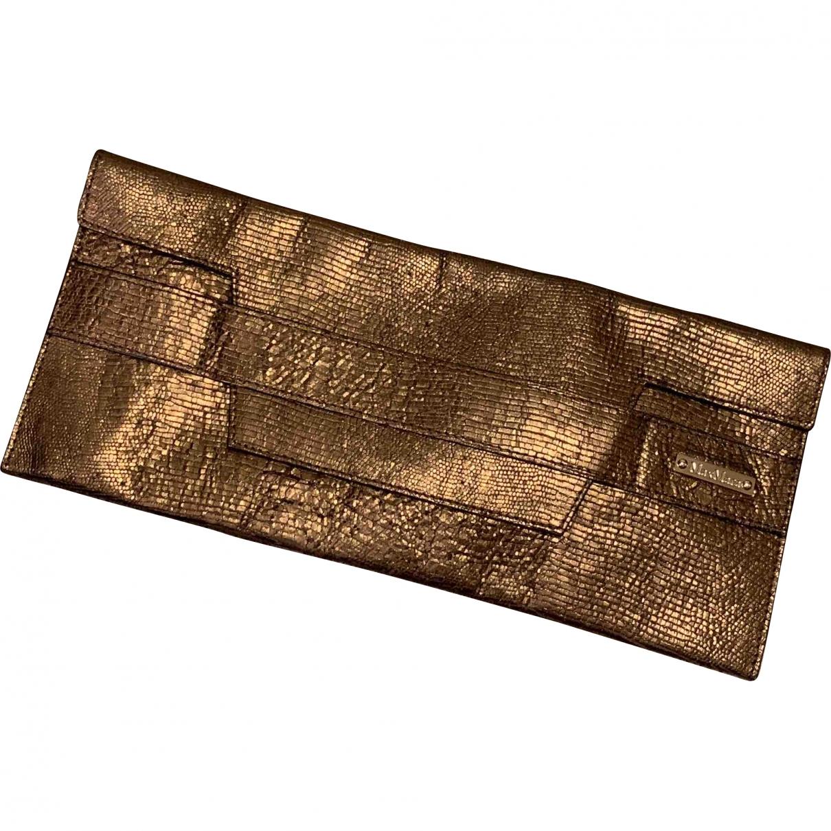 Max Mara \N Metallic Cloth Clutch bag for Women \N
