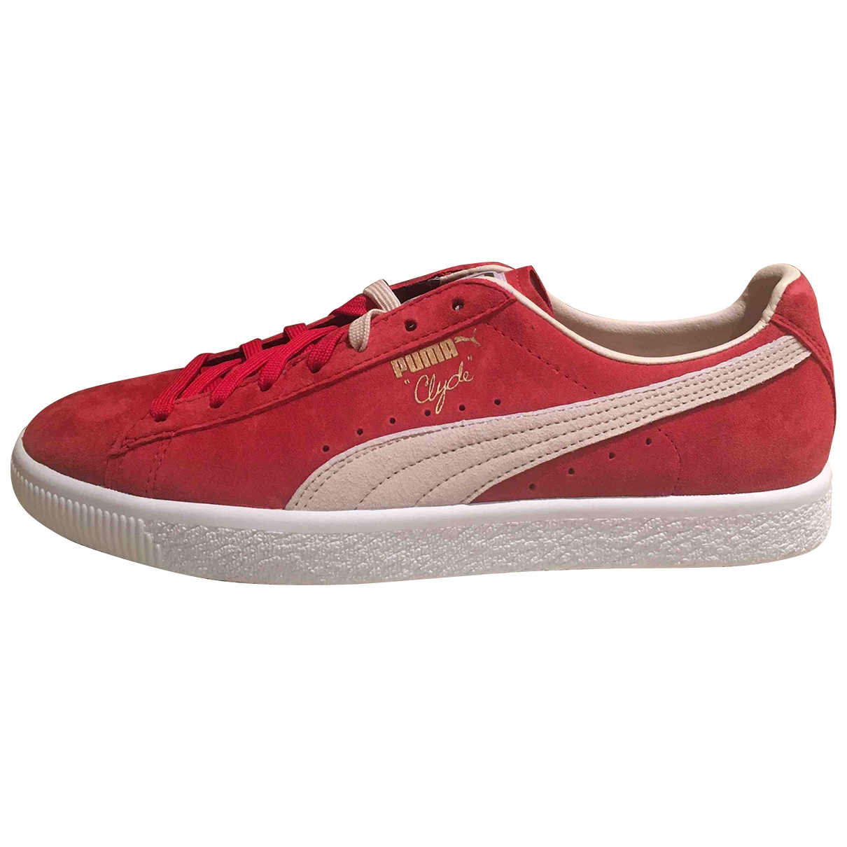 Puma \N Red Leather Trainers for Men 41 EU