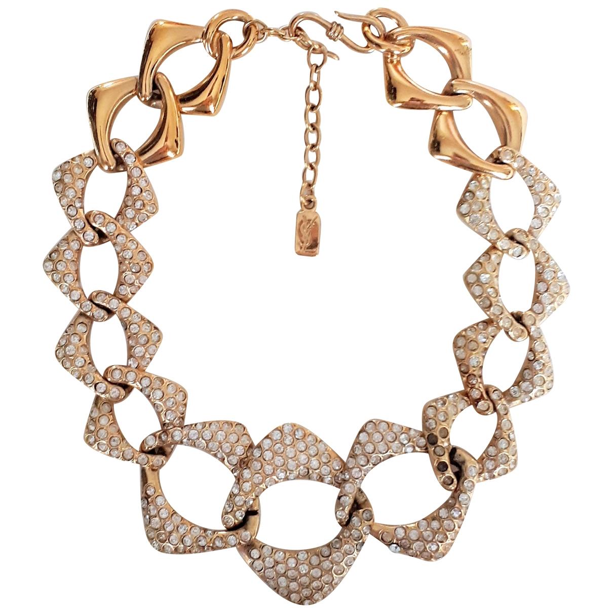 Yves Saint Laurent \N Gold Metal necklace for Women \N