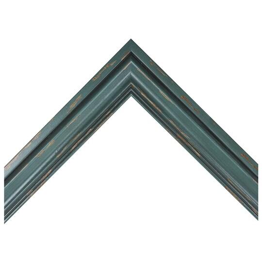 Distressed Ocean Blue Custom Frame By Michaels® in Blue-Green   8 X 10   Wood