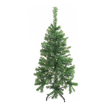 ALEKO Christmas Holiday Indoor Tree Indoor with Multicolored Lights, One Size , Green