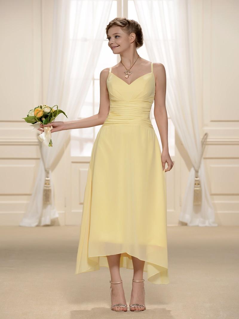 A-Line/Princess V-Neck Spaghetti Straps Bridesmaid Dress