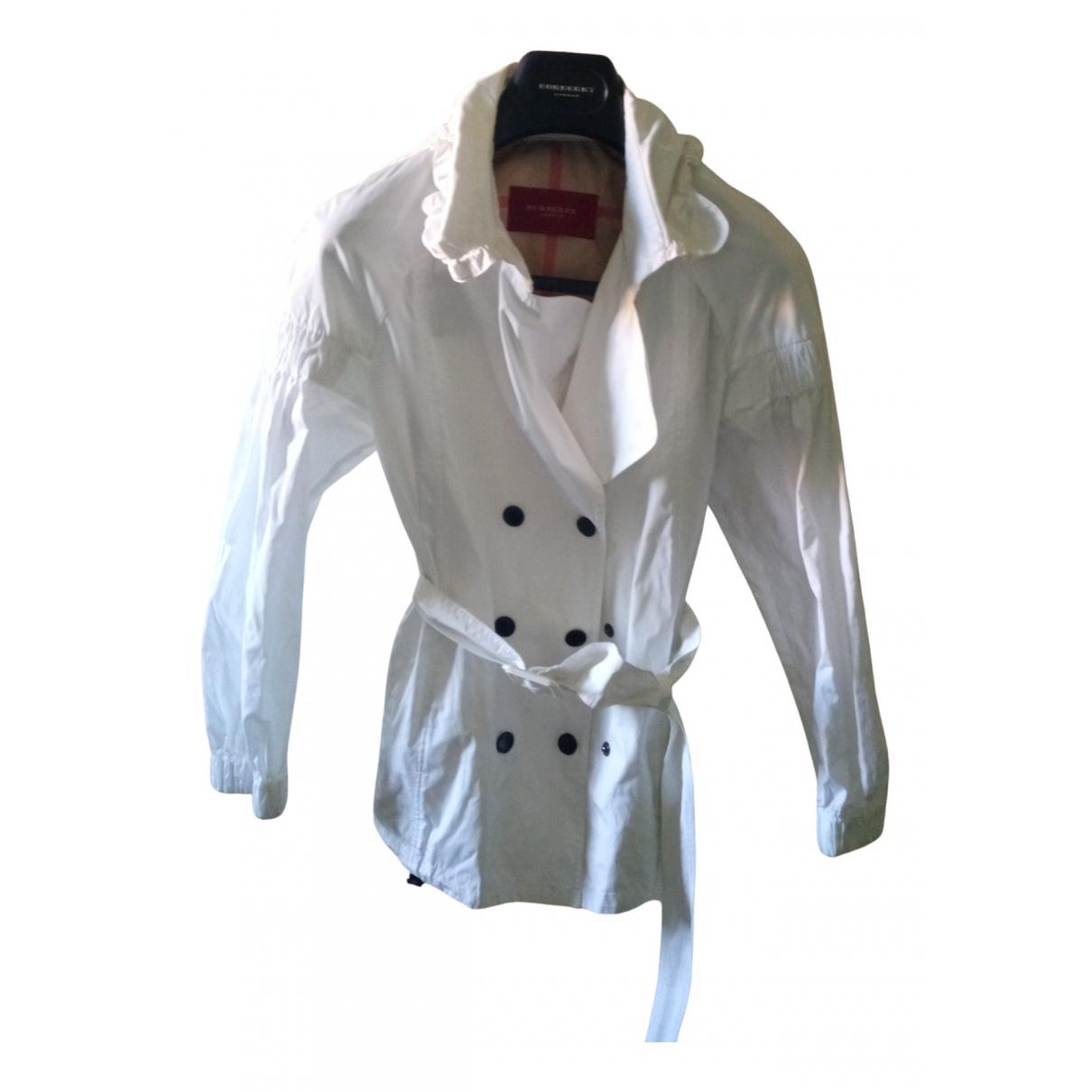 Burberry \N White Trench coat for Women 38 FR