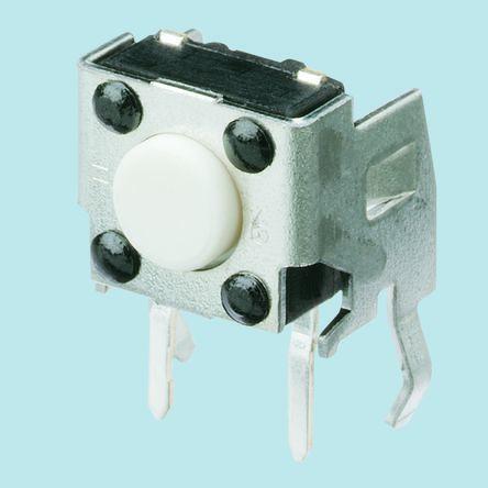 Panasonic White Tactile Switch, Single Pole Single Throw (SPST) 20 mA @ 15 V dc 3.15mm (5)
