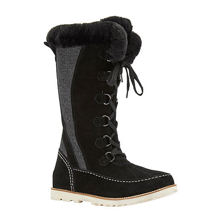 Lamo Womens Harper Winter Boots Flat Heel, 8 Medium, Black