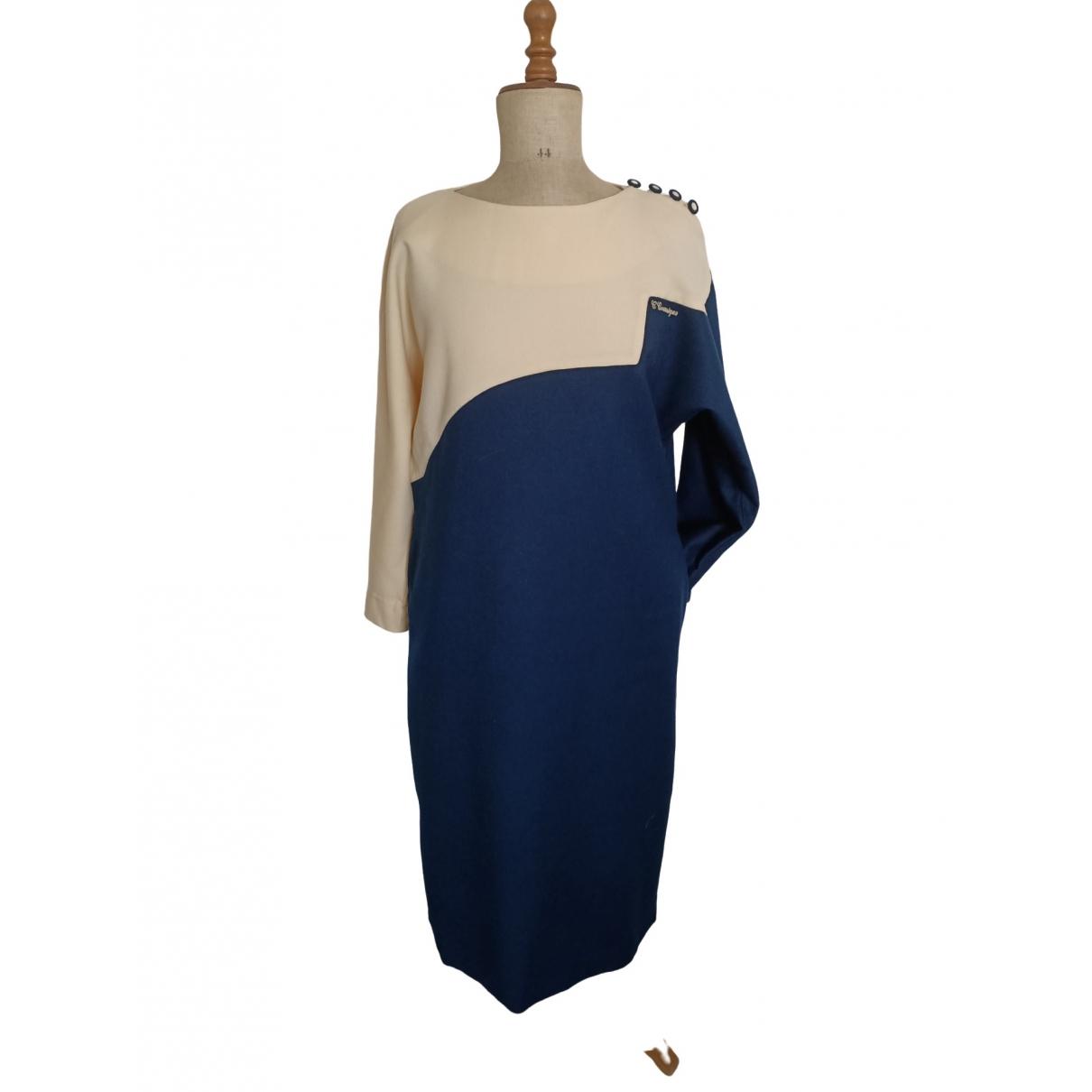 Courrèges \N Blue Wool dress for Women 42 FR