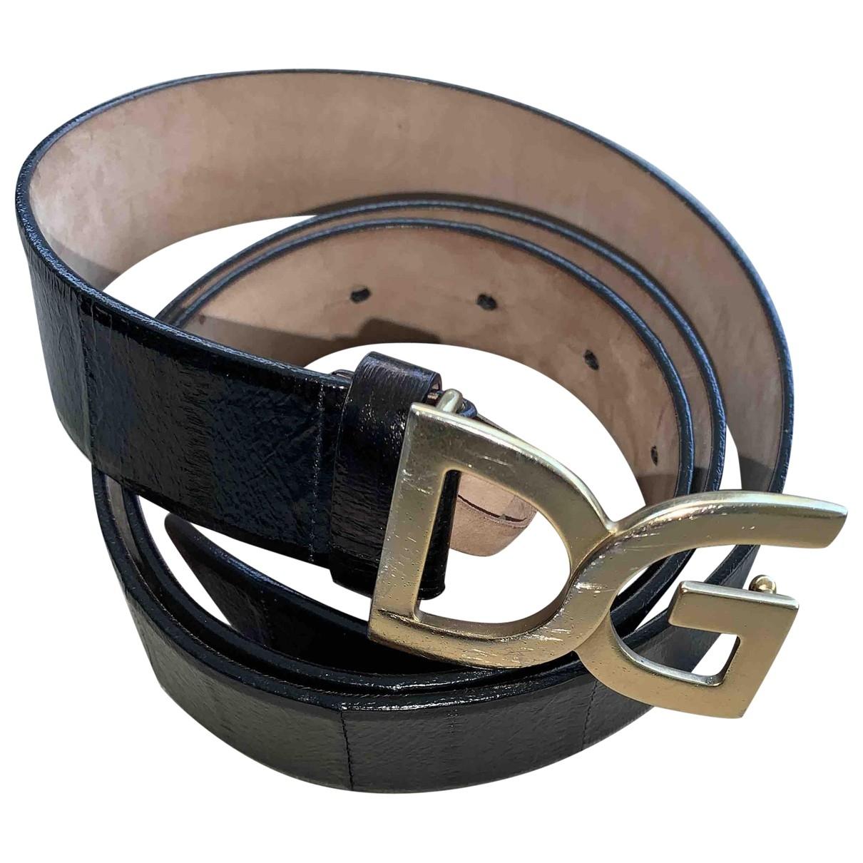 Dolce & Gabbana \N Black Leather belt for Women M International