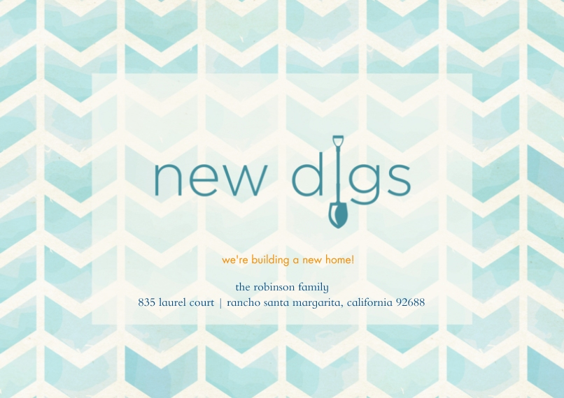Moving 5x7 Cards, Premium Cardstock 120lb with Scalloped Corners, Card & Stationery -New Digs Chevron