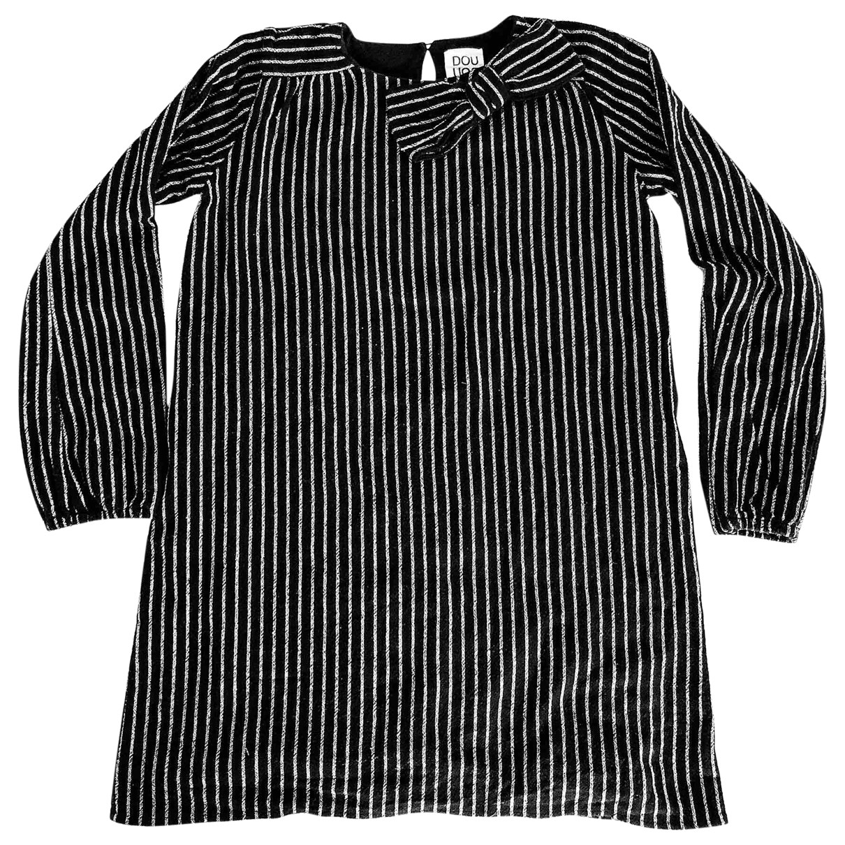 Douuod \N Black Cotton dress for Kids 12 years - XS FR