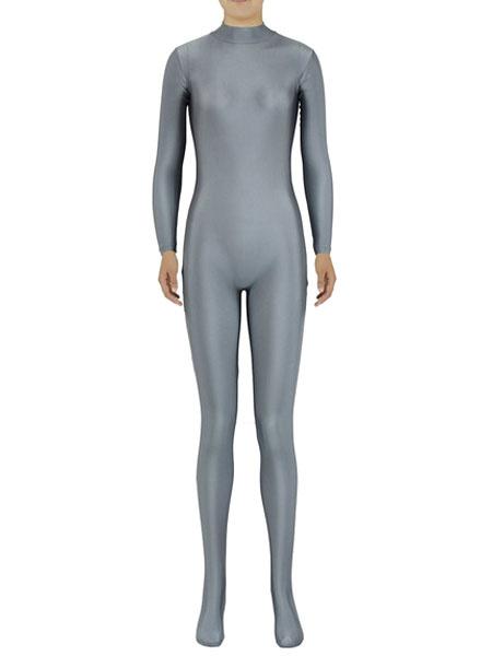 Milanoo Grey Morph Suit Adults Bodysuit Lycra Spandex Catsuit for Women